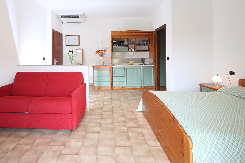 One room apartment with master bedroom (30mq)